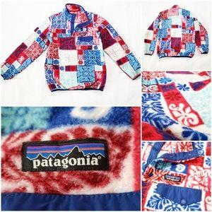 Patagonia Synchilla Snap-T Fleece Floral Jacket